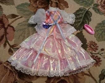 Vintage Mattel Lady Lovely Locks Dress and One Pink Shoe