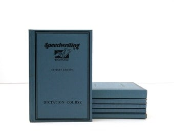 Speedwriting Shorthand Course / Complete 6 Volume Set / 1951 Century Edition