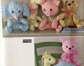Simplicty 2613/Stuffed Animals/Elephant/Giraffe/Cat/Pig