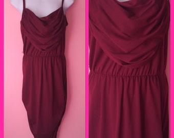 Vintage Frederick's of Hollywood Maroon Dress Size Medium