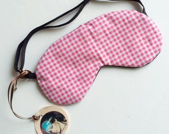 SAMPLE SALE  black and white spots Pinup Cotton Bamboo Sleepmask Eyemask  - Love Me Sugar HH