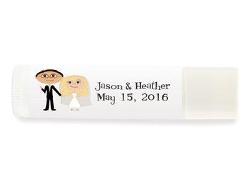 Wedding Lip Balm Labels, Custom Lip Balm Labels, Wedding Favor Ideas, Destination Wedding Favors, Beach Wedding Favors, Wedding Chapstick