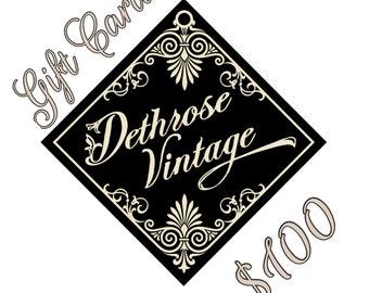 Dethrose Vintage Gift Card 100