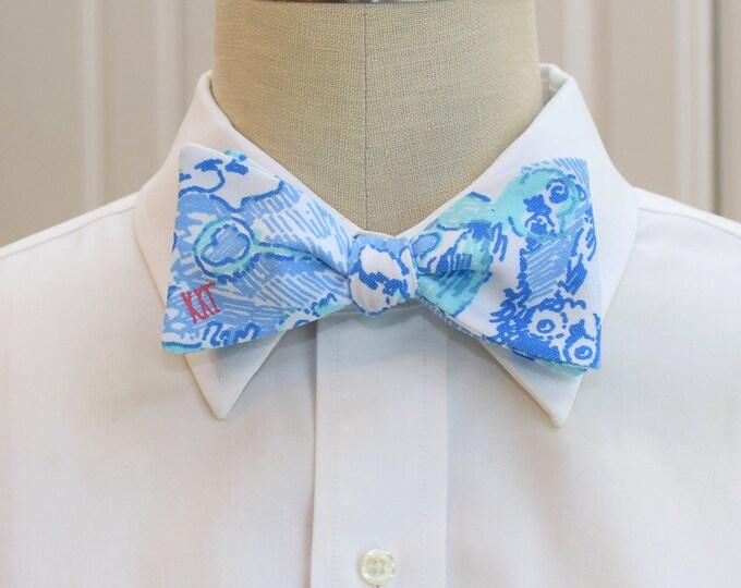 Kappa Kappa Gamma Bow Tie, lilly sorority print, sorority sweetheart bow tie, licensed sorority KKG print, KKG formals bow tie, self-tie