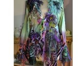 Queen of the Swamp Wonderful Silk Jacket, Lots of Silks, Silk Velvets  SWEET POISONOUS BERRIES Fairy Forest Cinderella Antoinette Tattered