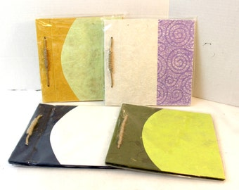 mulberry paper journal lot of 4 scrapbook craft supply