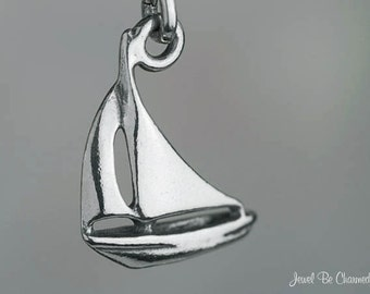 Small Sterling Silver Sailboat Charm Boat Sailing Nautical Solid .925