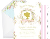 Swan Lake Personalized Invitation Set by Loralee Lewis