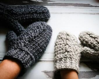 Crochet Pattern, Crochet Mitten Pattern, The Mabel Mittens, Easy Mitten Pattern,  Crochet, Mittens, Pattern, Cabled Mitten, Crochet Cables,