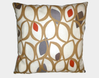 """Pillow Red Brown Gray 4 CHOICES Mix Match Designer Cushion Covers Pillow Sham Scatter Slip ONE 16"""" (40cm)"""