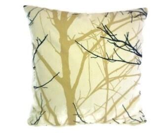 "SALE BIG 22x22"" Funky Brown Black Beige Tree Designer Cotton Cushion Cover's. Pillowcases Shams Slips"