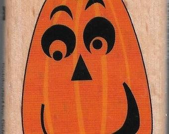 Jackolantern Halloween Stamp --   NEW  -- Wood Mounted Rubber Stamp --  Studio G Brand --   (#1425)