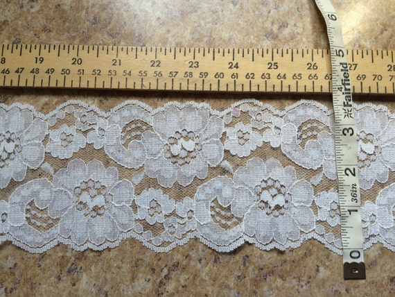 PER YARD WHITE lace trim doll clothes doll making sewing bridal wedding wide craft favors cosplay costume baptism floral flower Halloween