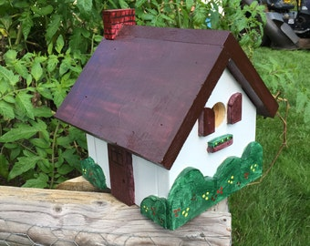 Colorful wooden birdhouse