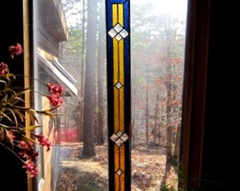 ELEGANT stained glass panel glass art window treatment suncatcher stained glass interior design