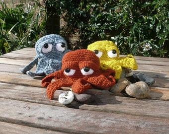 Crochet Novelty Octopus Coin Purse PDF Pattern