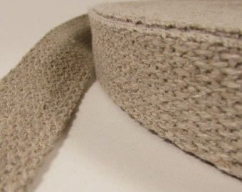 "Hemp Webbing, 100% Hemp, Sold by the Yard, Natural (undyed), 1"" Wide"