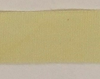 """Ribbon, 100% Organic Cotton, Sold by the Yard, 7/8"""" Wide, Hand-dyed, Straw"""