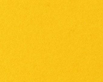 "Felt Sheet 8""x12"" 1mm Thick, 100% Merino Wool, Goldenrod"