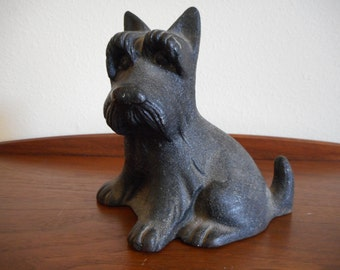 Scottish Terrier Scotty Dog Doorstop Cast Iron Fala FDR Franklin D Roosevelt Door Stop Paperweight
