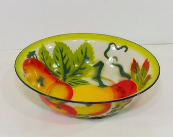 Vintage Enamel Bowl, Medium Sized