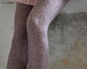 Knit Leggings Tight Fit Pants Lace Leggings Sheer Legwarmer Alpaca Knit Pants Valentine's Gift