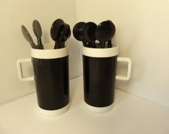 Braniff Airlines Coffee Cups And Bodum Stirrers