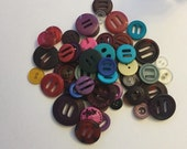 Button Destash, Assorted Colorful Buttons, Lot of 20 Buttons