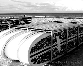Beach Photography - Black and white photographic print