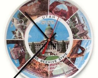 Utah Souvenir Plate Clock