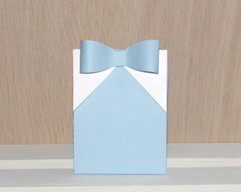 Boy's Baby Blue Shirt and Bow Tie Box Gift Box Favor Box