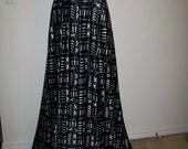 Black and White Mudcloth Print African Jersey fabric per yard/ Leggings fabric/ Ankara Jersey fabric/African Swim wear fabric/Stretch Jersey