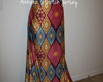 Diamond Print African Jersey stretch fabric per yard/ Leggings fabric/ Ankara Jersey fabric/ African Swim wear fabric/ Lingerie fabric