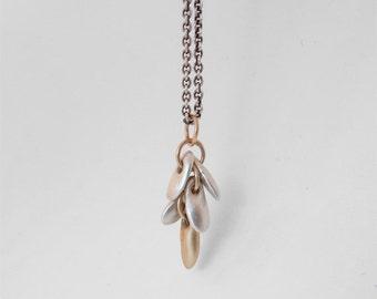 minimalist gold necklace tassel necklace fine jewelry gold necklace silver necklace layered necklace fringe necklace modern necklace casual