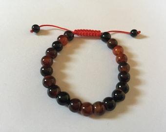 Banded Agate Wrist Mala/ Bracelet for Meditation