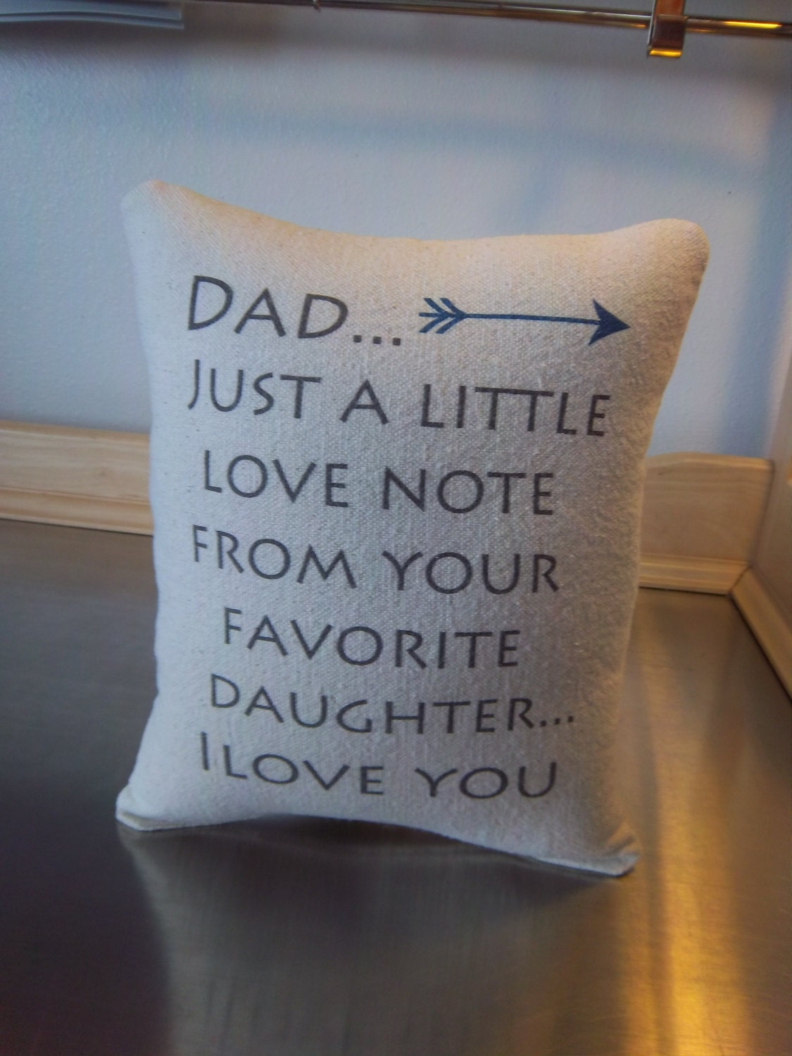 Dad Gift From Daughter Pillow Father Gift From Daughter