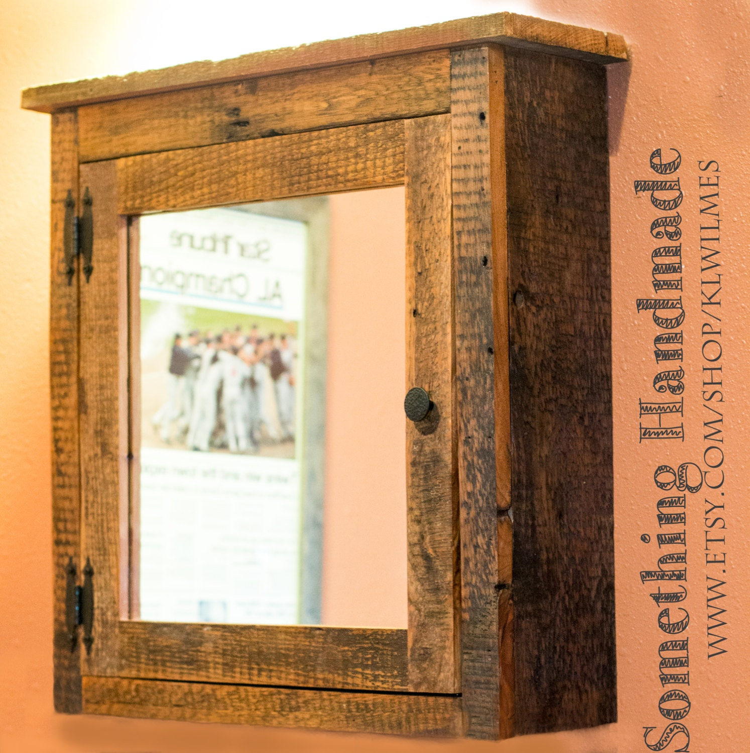 Barn Medicine Cabinet With Mirror Made From 1892 By Klwilmes