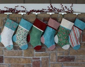 Personalized Christmas Stockings w/ Embroidered Tags. Handmade Holiday Stocking. Quality Christmas Stocking. Custom Stockings. EvergreenBest