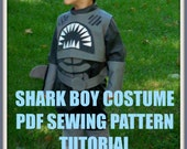 Shark Boy Costume Sewing Pattern, pdf pattern, boys costume pattern, sewing tutorial