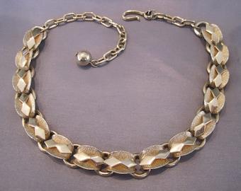Vintage Gold Plate Link Choker Necklace