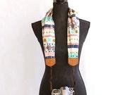 scarf camera strap boho stripe - BCSCS005