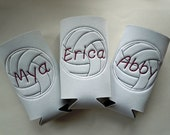 Volleyball Water Bottle Holder PERSONALIZED and FULLY CUSTOMIZABLE with your name and colors and many sports available
