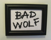 Bad Wolf cross stitch pattern science fiction doctor who