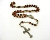 Antique French rosary, souvenir of Lourdes