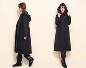 Babydoll Winter Long Coat/ Cotton Padded Hoodie / 8 Colors/ RAMIES