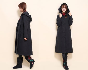 Babydoll Winter Long Coat/ Cotton Padded Hoodie / 8 Colors/ RAMIES