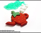 Strawberry Tea Time Necklace