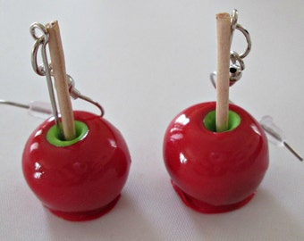 Red Candy Apple Earrings