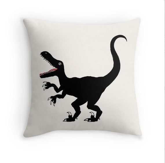 "Raptor - Home Decor - Black and White - Throw Pillow Cover / Cushion Cover (16"" x 16"") iOTA iLLUSTRATION"