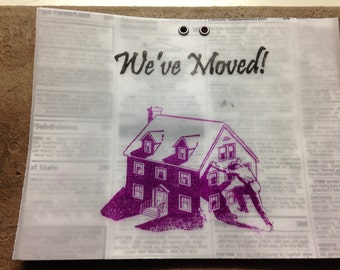 Moving Announcement, Moving, New Address, Handmade,Announcements, Fun